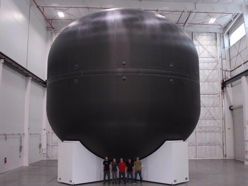 Prototype Carbon-Fibre Tank